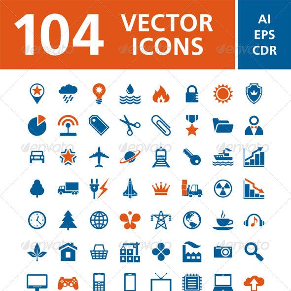 104 Vector Icons