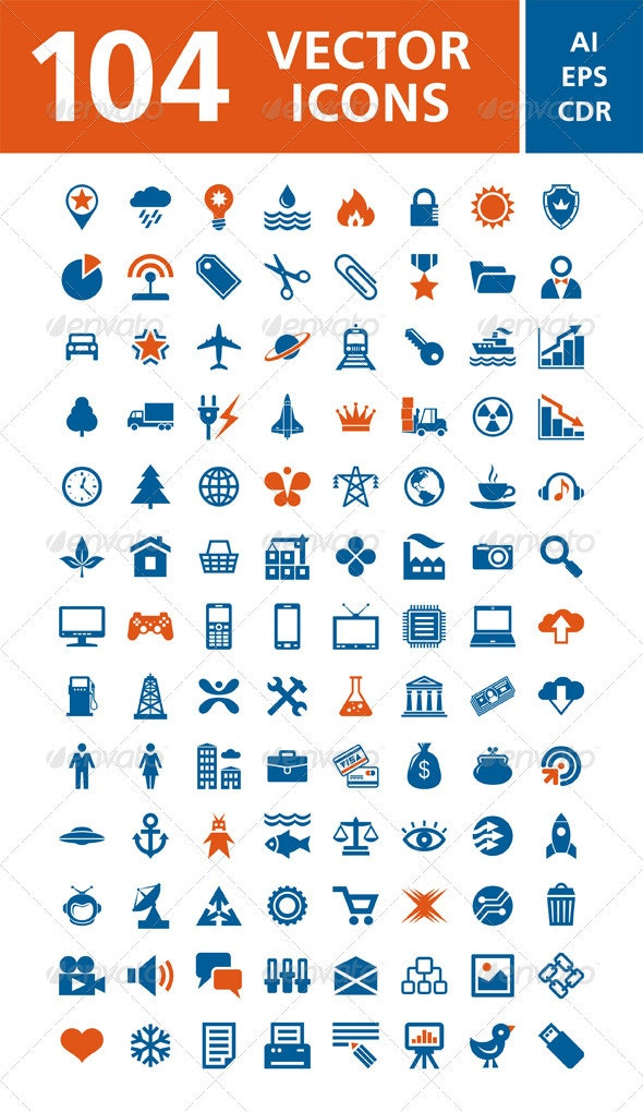 104 Vector Icons - Web Icons