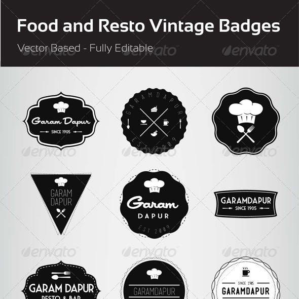 Food and Resto Vintage Badges