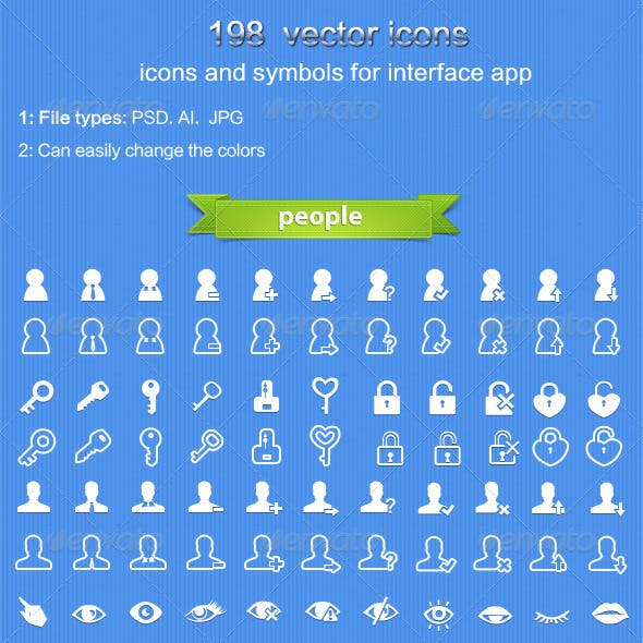 user and people icon