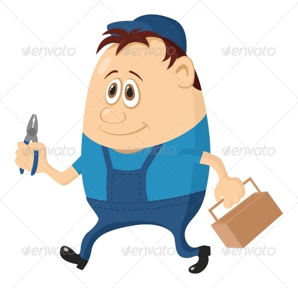 Worker with Pliers - People Characters