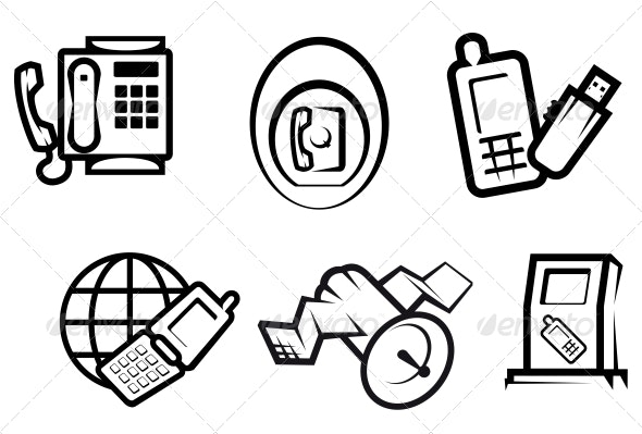 Communication and Internet Symbols - Communications Technology