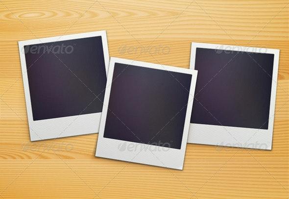 Polaroid Photo Frames  - Man-made Objects Objects