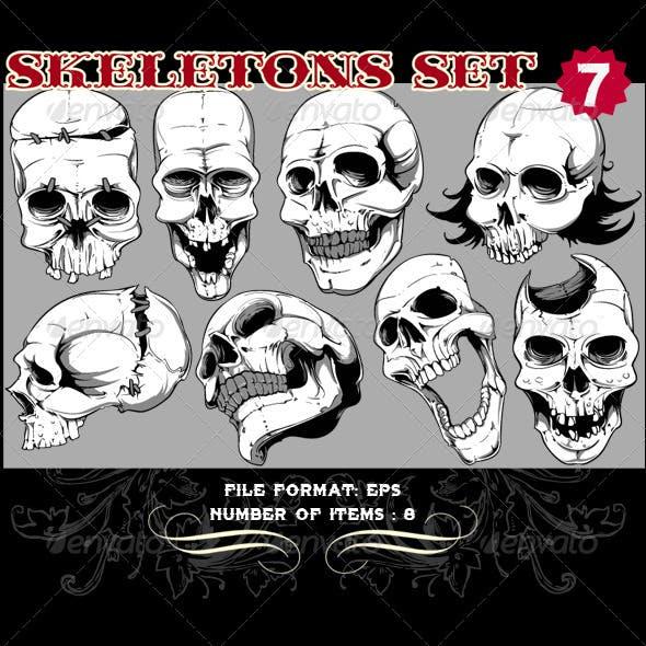 Skeletons Vector Set 7