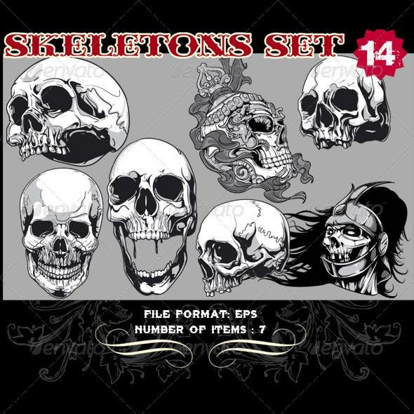 Skeletons Vector Set 14