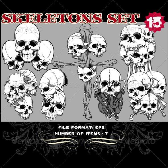 Skeletons Vector Set 15