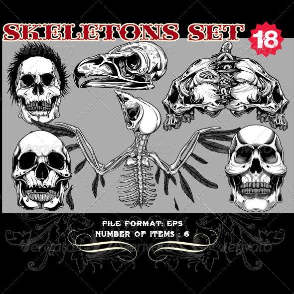 Skeletons Vector Set 18 - Vectors