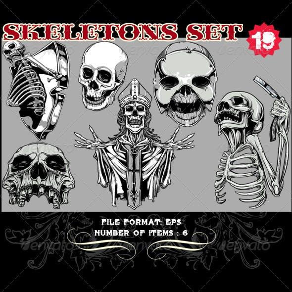 Skeletons Vector Set 19