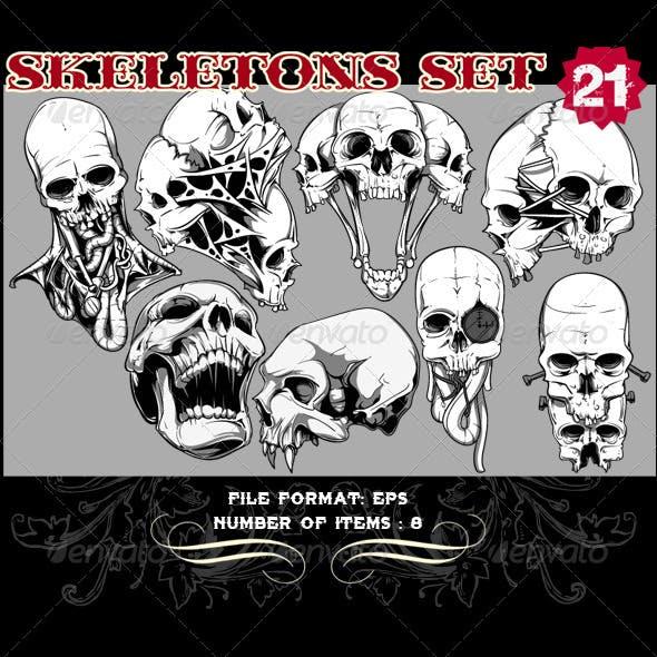 Skeletons Vector Set 21