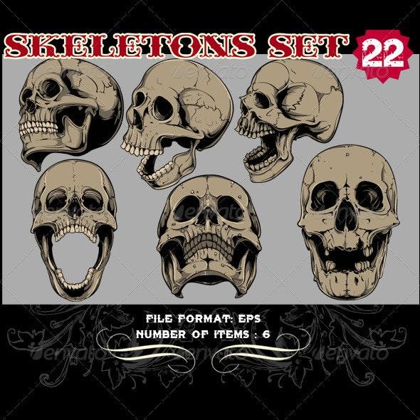 Skeletons Vector Set 22 - Vectors