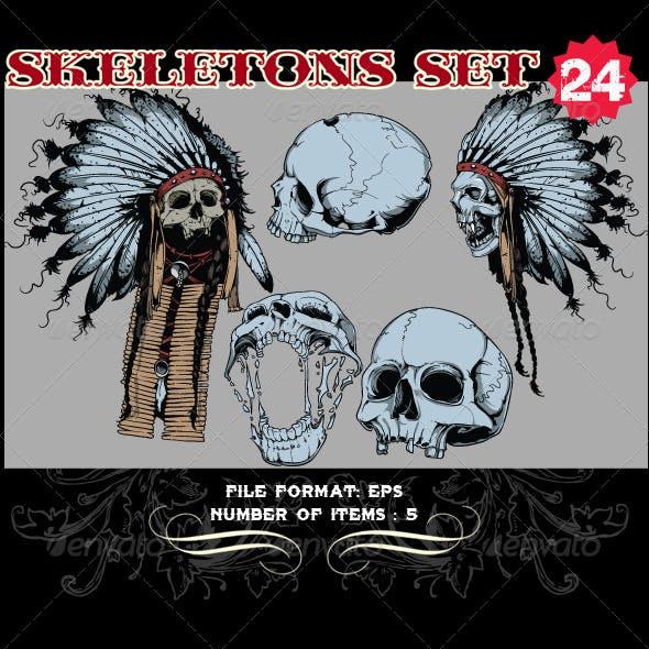 Skeletons Vector Set 24