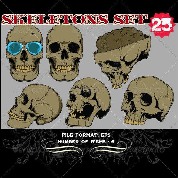 Skeletons Vector Set 25 - Vectors