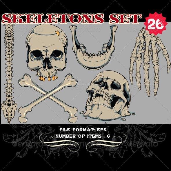 Skeletons Vector Set 26