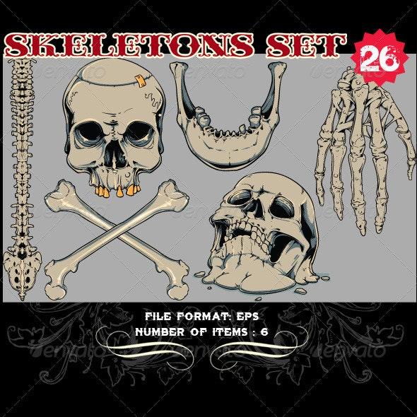 Skeletons Vector Set 26 - Vectors