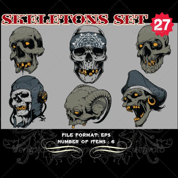 Skeletons Vector Set 27