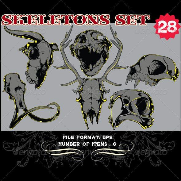 Skeletons Vector Set 28