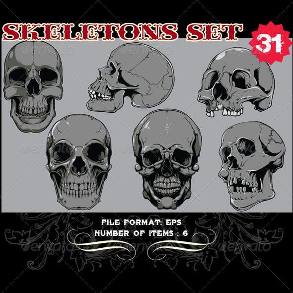 Skeletons Vector Set 31