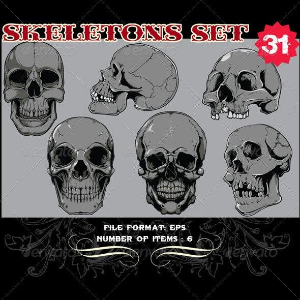 Skeletons Vector Set 31 - Vectors