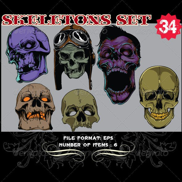 Skeletons Vector Set 34