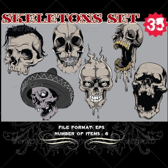 Skeletons Vector Set 35