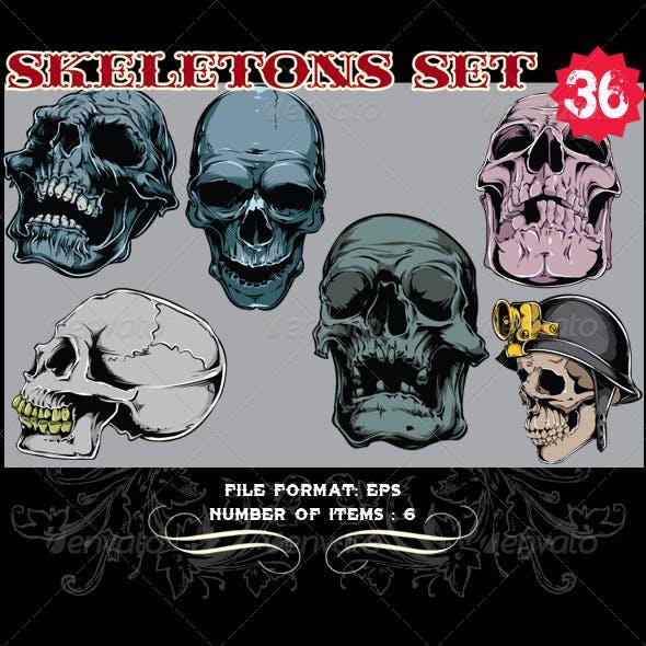 Skeletons Vector Set 36