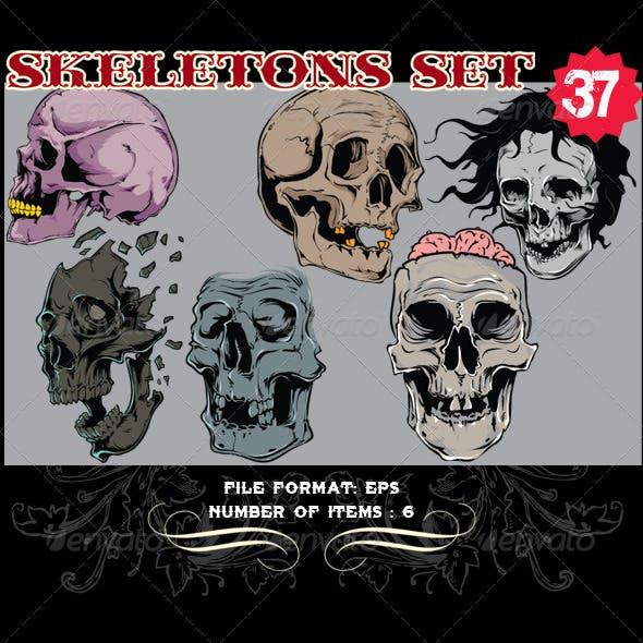 Skeletons Vector Set 37