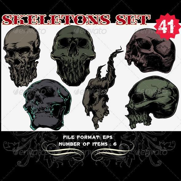 Skeletons Vector Set 41 - Vectors