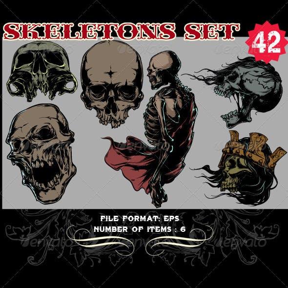Skeletons Vector Set 42