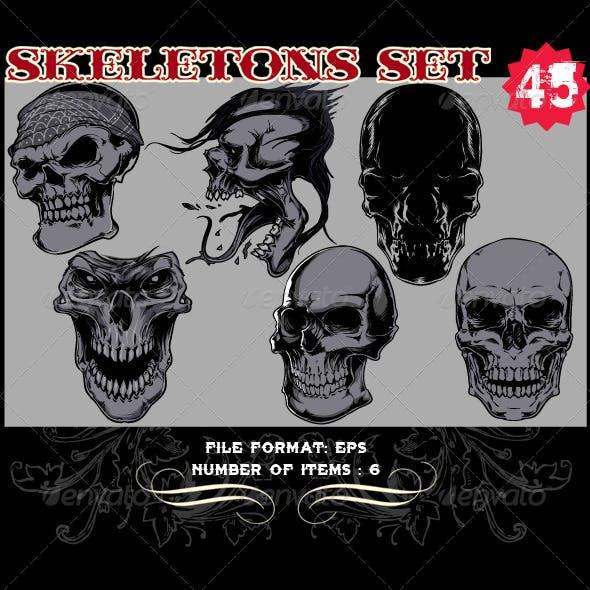 Skeletons Vector Set 45