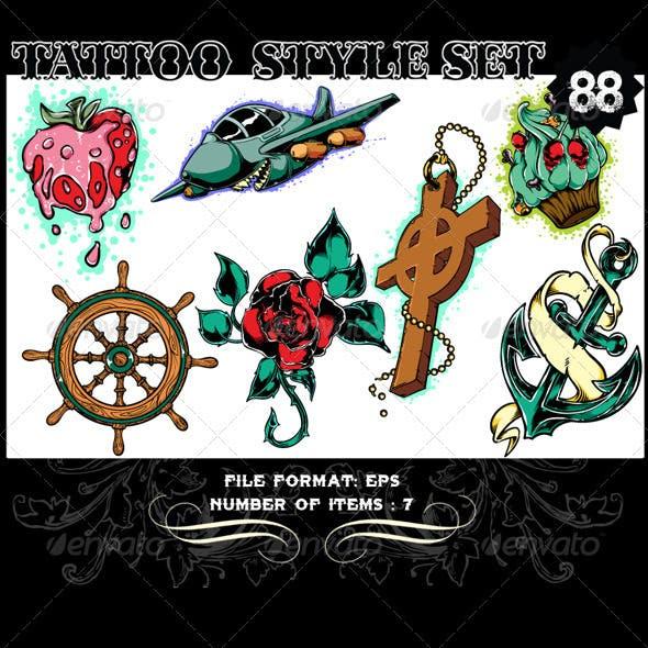 Tattoo Style Vector Set 88
