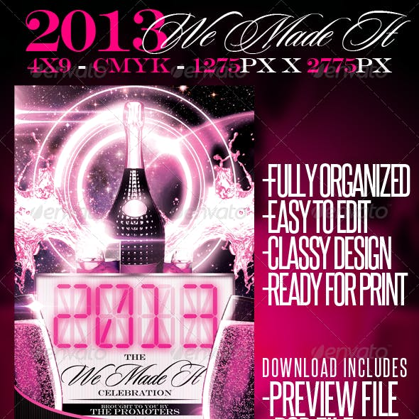 2013 We Made It Flyer Template