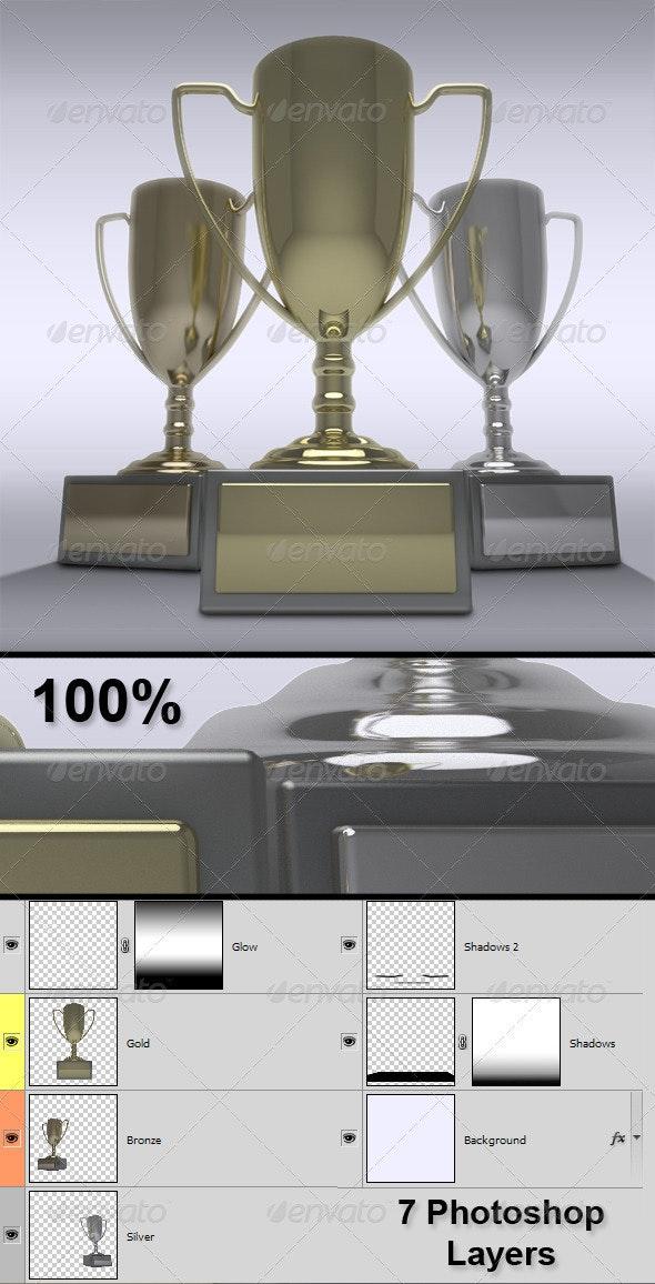 Trophies - Objects 3D Renders