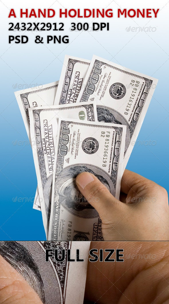 Hand Holding Money - Miscellaneous Isolated Objects