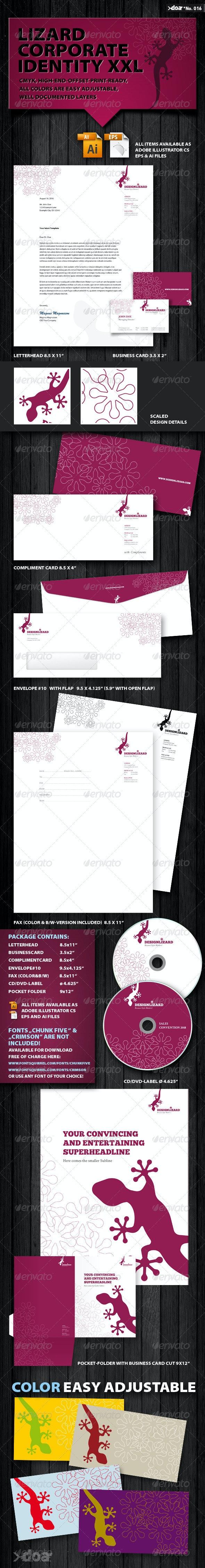 Design Lizard Corporate Identity XXL - Stationery Print Templates