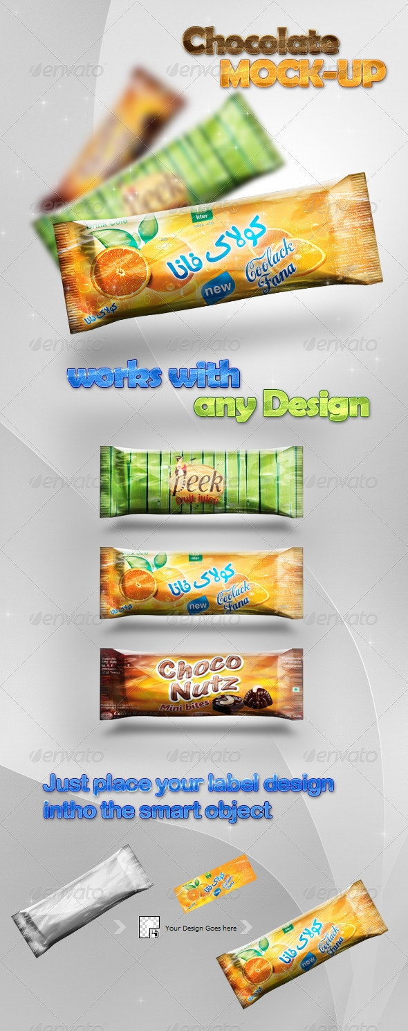 Chocolate/Candy Bar Mock-Up Design Preview - Food and Drink Packaging