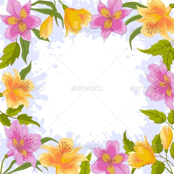 Background Frame From Flowers - Backgrounds Decorative
