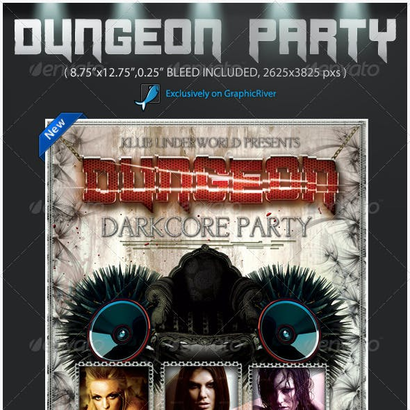 Darkcore Party Poster Flyer