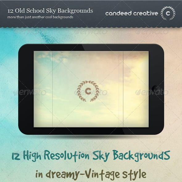 12 Old School Sky Backgrounds