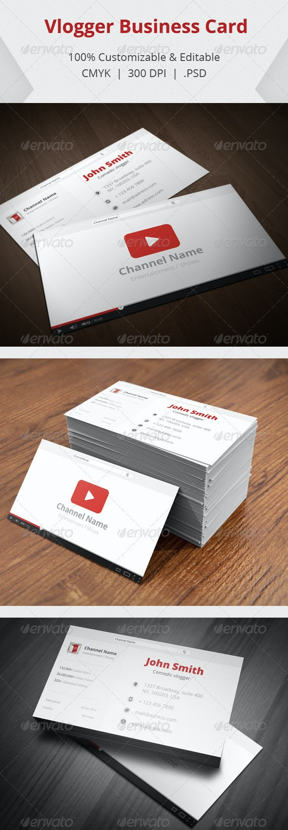 Vlogger Business  Card - Creative Business Cards