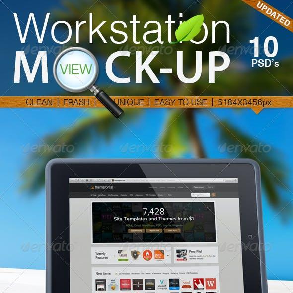 Workstation View Mock-up