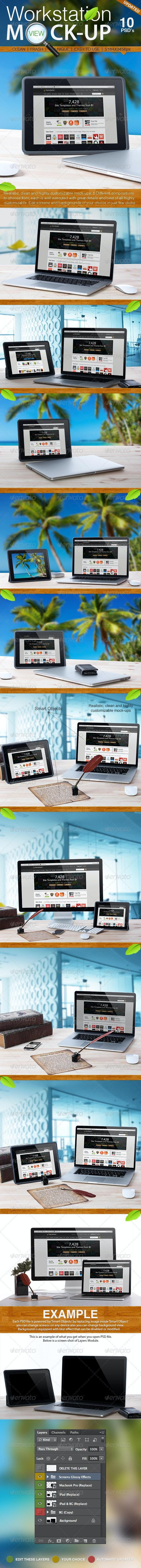 Workstation View Mock-up - Multiple Displays