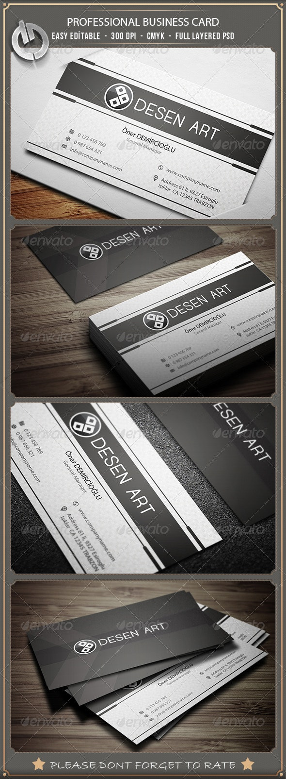 Professional  Business Card 8 - Corporate Business Cards