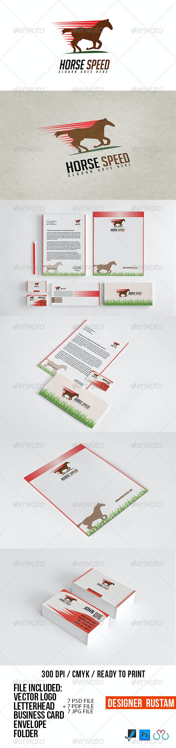Horse Speed Stationery - Stationery Print Templates