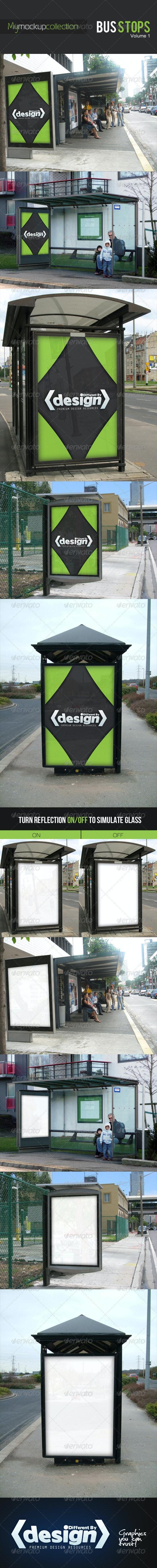 DBD | MyMockupCollection - Bus Stop Mockups - Signage Print