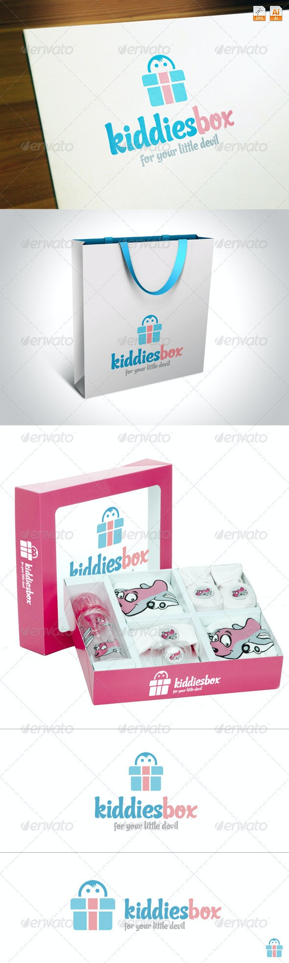 KiddiesBox - Humans Logo Templates