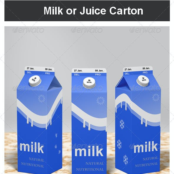 Milk or Juice Carton Mock-up