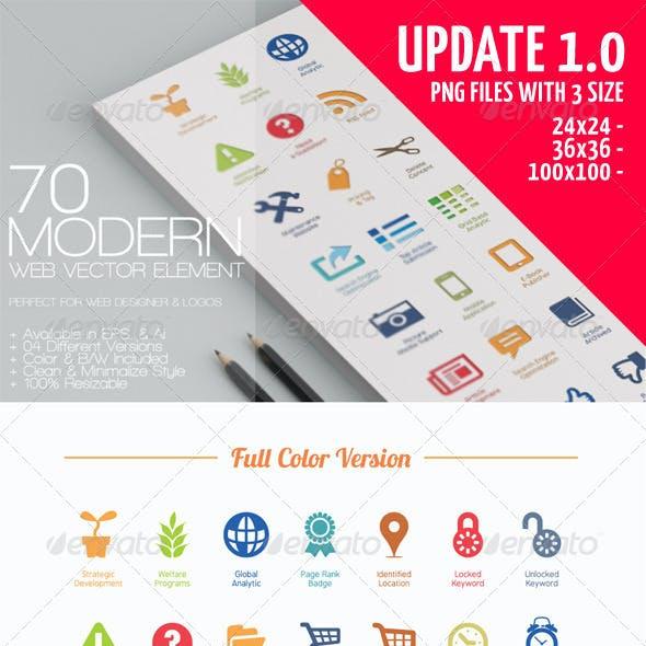 70 Modern Web Vector Elements