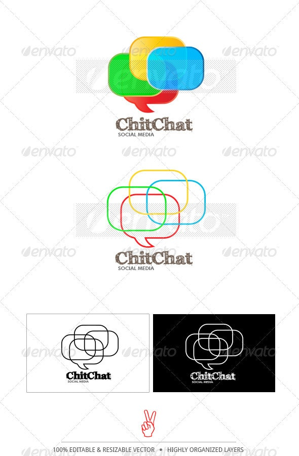 ChitChat Logo Template - Abstract Logo Templates