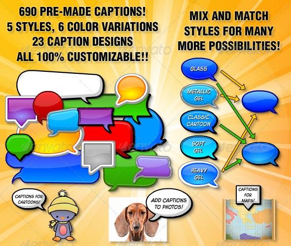 Caption Construction Bundle - Miscellaneous Vectors