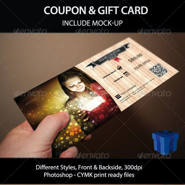 Giftable Coupon and Gift Card with Mock-Up